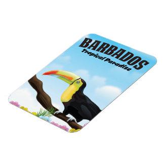 Magnet Flexible Affiche tropicale de voyage de paradis des Barbade