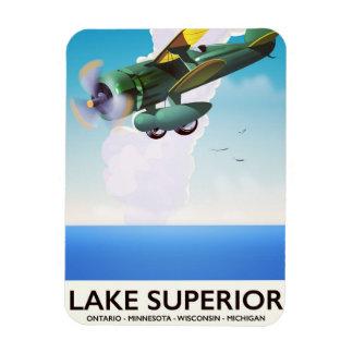 Magnet Flexible Affiche vintage de voyage d'appui vertical du lac