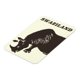 Magnet Flexible Affiche vintage de voyage de style de rhinocéros