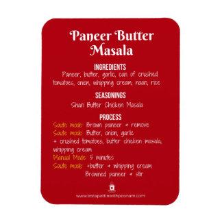 Magnet Flexible Aimant de recette de Masala de beurre de Paneer