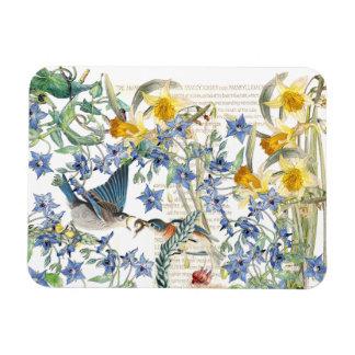 Magnet Flexible Aimant floral de faune d'oiseaux d'oiseau bleu
