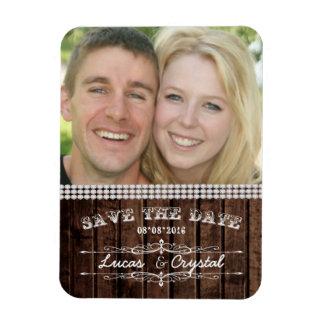 Magnet Flexible Aimant rustique de photo de mariage