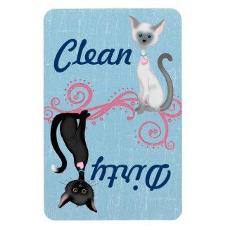 Magnet Flexible Aimant sale propre de lave-vaisselle de chat