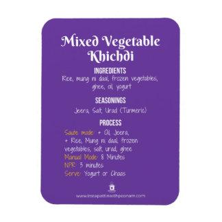 Magnet Flexible Aimant végétal de recette de Khichdi