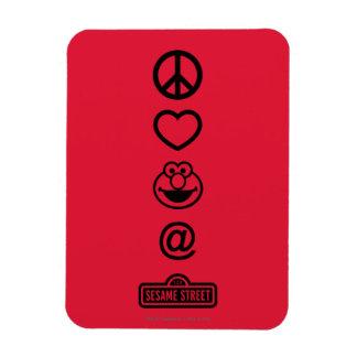 Magnet Flexible Amour Elmo de paix