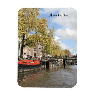 Magnet Flexible Amsterdam, canal, pont, bateau-maison, Pays-Bas