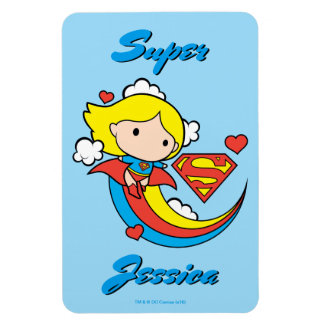 Magnet Flexible Arc-en-ciel de vol de Chibi Supergirl