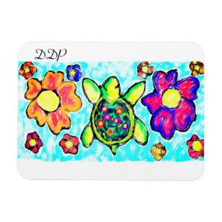 Magnet Flexible Art deux de fleur de tortue