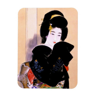 Magnet Flexible Art japonais traditionnel oriental frais de dame