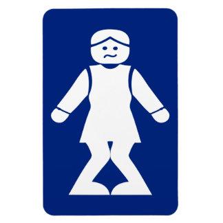 Magnet Flexible ⚠ asiatique thaïlandais de signe de toilette de ⚠