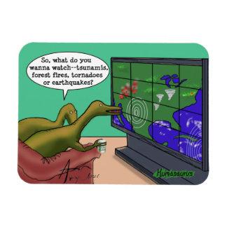 Magnet Flexible Bande dessinée de parodie de dinosaures de