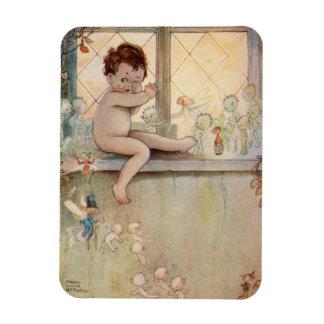 Magnet Flexible Bébé de Peter Pan à la fenêtre avec l'aimant de