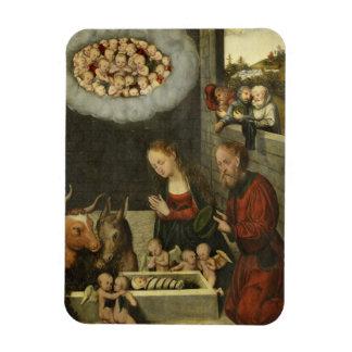 Magnet Flexible Bergers adorant le bébé Jésus par Cranach