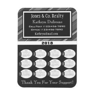 Magnet Flexible Calendrier gris professionnel des affaires 2018