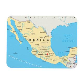 Magnet Flexible Carte politique du Mexique