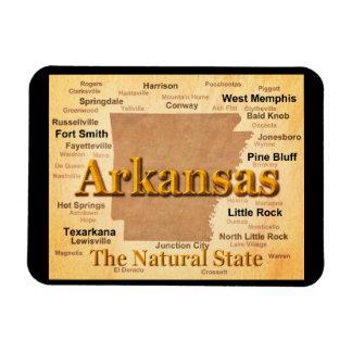 Magnet Flexible Carte vintage de style de l'Arkansas