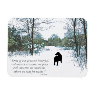 Magnet Flexible Citation noire de Labrador - trésors