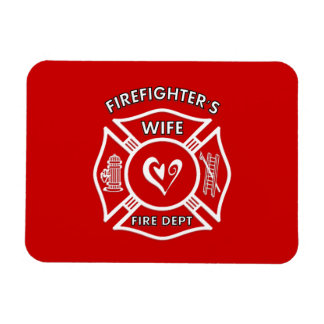 Magnet Flexible Coeur maltais d'épouse de sapeurs-pompiers
