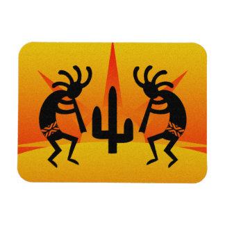 Magnet Flexible Conception noire et jaune de Kokopelli de
