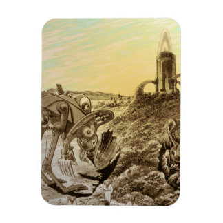 Magnet Flexible Construction vintage de planète d'aliens de la