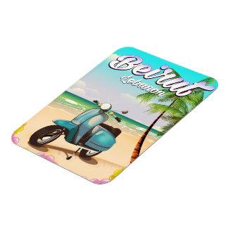 Magnet Flexible Copie de voyage de scooter de Beyrouth Liban