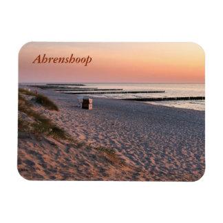 Magnet Flexible Coucher du soleil de plage d'Ahrenshoop