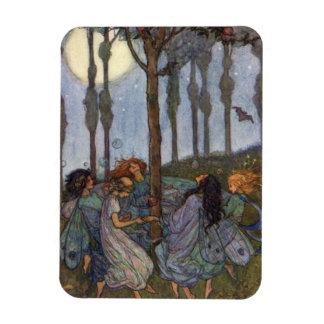 Magnet Flexible Cru - danse de fées autour d'un arbre,