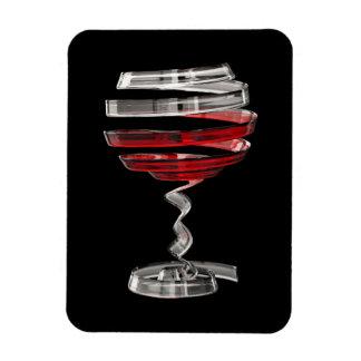 Magnet Flexible D'aimant étrange de Flexi en verre de vin