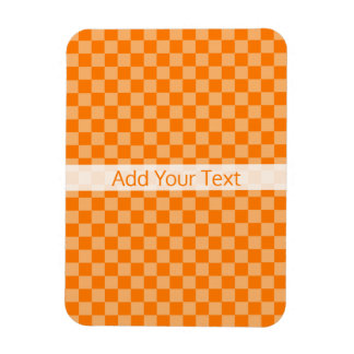 Magnet Flexible Damier orange de combinaison par Shirley Taylor