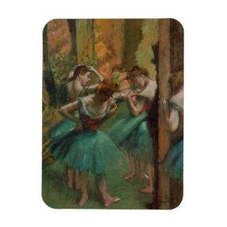 Magnet Flexible Danseurs d'illustration de ballet roses et Edgar