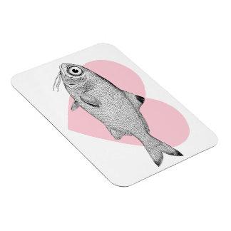 Magnet Flexible Dessin vintage étrange de poissons