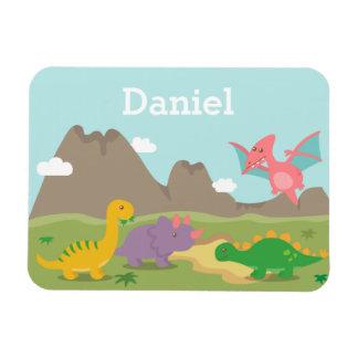Magnet Flexible Dinosaures colorés mignons pour de petits enfants