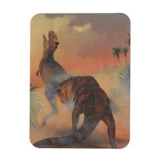 Magnet Flexible Dinosaures vintages, Carnotaurus hurlant dans la