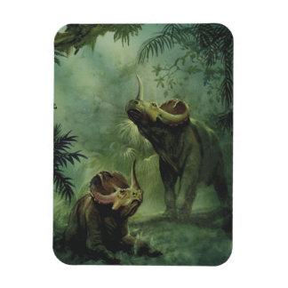 Magnet Flexible Dinosaures vintages, Centrosaurus dans la jungle
