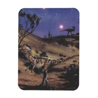 Magnet Flexible Dinosaures vintages, Dilophosaurus une nuit