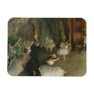 Magnet Flexible Edgar Degas - la répétition du ballet sur scène