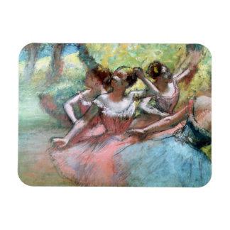 Magnet Flexible Edgar Degas | quatre ballerines sur l'étape
