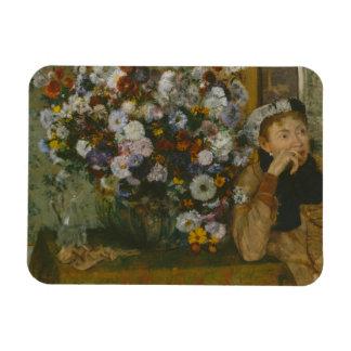 Magnet Flexible Edgar Degas - une femme assise près d'un vase