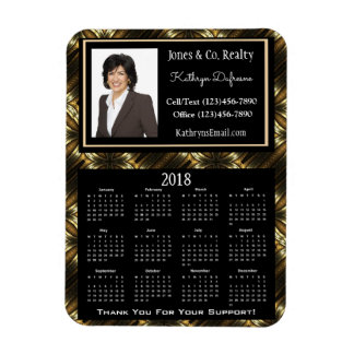 Magnet Flexible Élégance d'or w/Photo de calendrier des affaires