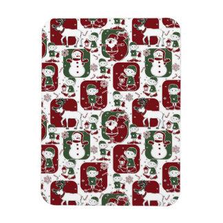 Magnet Flexible Elfes et bonhommes de neige de Noël