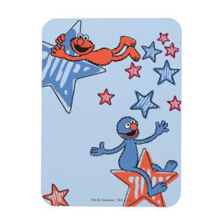 Magnet Flexible Elmo et Grover parmi les étoiles