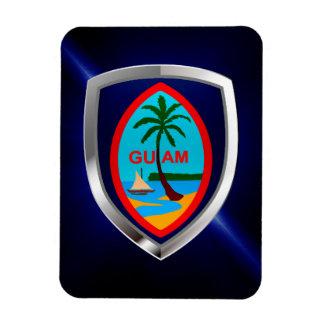 Magnet Flexible Emblème de la Guam Mettalic