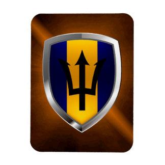 Magnet Flexible Emblème des Barbade Mettalic