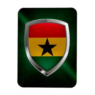 Magnet Flexible Emblème du Ghana Mettalic