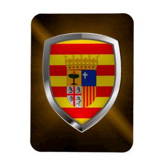 Magnet Flexible Emblème métallique d'Aragón