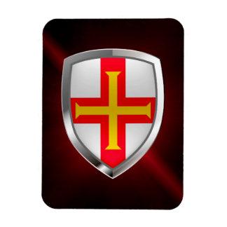 Magnet Flexible Emblème métallique de Guernesey