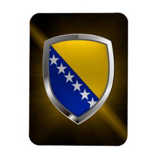 Magnet Flexible Emblème métallique de la Bosnie-Herzégovine