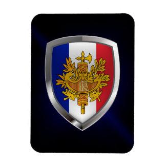 Magnet Flexible Emblème métallique de la France