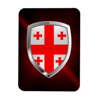 Magnet Flexible Emblème métallique de la Géorgie