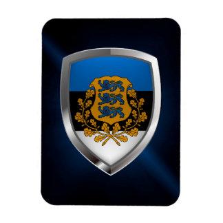 Magnet Flexible Emblème métallique de l'Estonie